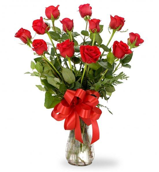 Mazzo Di Fiori A Gambo Lungo.Mazzo Di Rose Rosse A Gambo Lungo Atelier Flower Shop Acquista